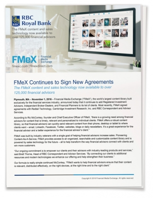 FMeX Continues to Sign New Agreements